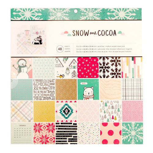 Crate Paper - Snow and Cocoa 12x12 Paper Pad