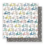 Crate Paper - Here & There Collection - 12 x 12 Double Sided Paper - City Views