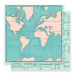 Crate Paper - Here & There Collection - 12 x 12 Double Sided Paper - Tour Guide