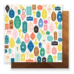 Crate Paper - Here & There Collection - 12 x 12 Double Sided Paper - Check-In