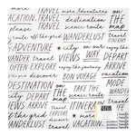 Crate Paper - Here & There Collection - 12 x 12 Vellum Paper - Traveler
