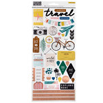 Crate Paper - Here & There Collection - Cardstock Stickers with Foil Accents