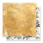 Crate Paper - Flourish Collection - 12 x 12 Double Sided Paper - Goldenrod