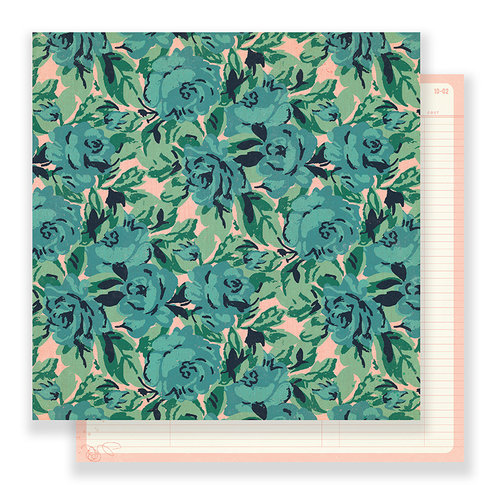 Crate Paper - Flourish Collection - 12 x 12 Double Sided Paper - Rose Garden