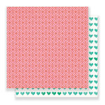 Crate Paper - Flourish Collection - 12 x 12 Double Sided Paper - Poppy