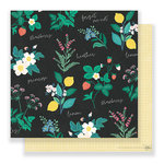 Crate Paper - Flourish Collection - 12 x 12 Double Sided Paper - Greenhouse