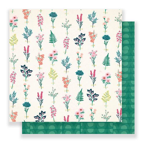 Crate Paper - Flourish Collection - 12 x 12 Double Sided Paper - Perennial