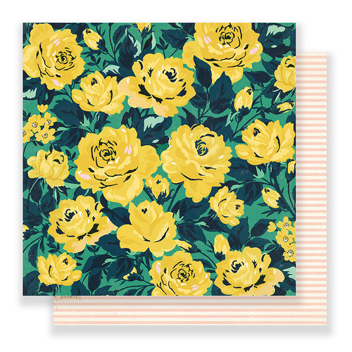 Crate Paper - Flourish Collection - 12 x 12 Double Sided Paper - Grandiflora