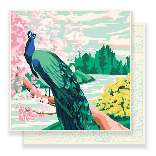 Crate Paper - Flourish Collection - 12 x 12 Double Sided Paper - Jardin