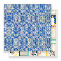 Crate Paper - Flourish Collection - 12 x 12 Double Sided Paper - Provence