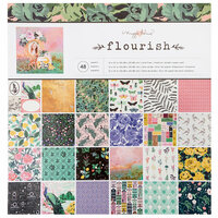 Crate Paper - Flourish Collection - 12 x 12 Paper Pad