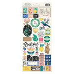 Crate Paper - Flourish Collection - Cardstock Stickers with Foil Accents