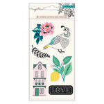 Crate Paper - Flourish Collection - Puffy Stickers with Embossed Accents