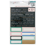 Crate Paper - Flourish Collection - Cardstock Stickers with Foil Accents - Two