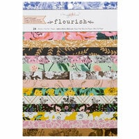 Maggie Holmes - Flourish Collection - 6 x 8 Paper Pad with Foil Accents