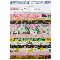 Crate Paper - Flourish Collection - 6 x 8 Paper Pad with Foil Accents