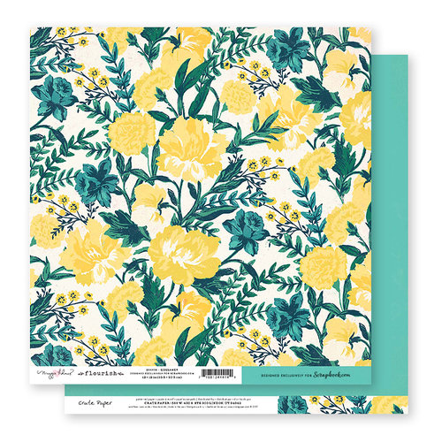 Exclusive Crate Paper - Flourish Collection - 12 x 12 Double Sided Paper - Gossamer