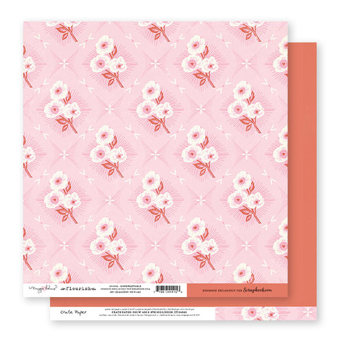 Scrapbook.com Exclusive Crate Paper - Flourish Collection - 12 x 12 Double Sided Paper - Unforgettable