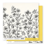 Exclusive Crate Paper - Flourish Collection - 12 x 12 Double Sided Paper - Skylark