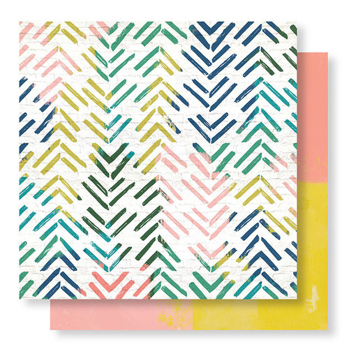 Crate Paper - Wild Heart Collection - 12 x 12 Double Sided Paper - Electric