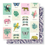 Crate Paper - Wild Heart Collection - 12 x 12 Double Sided Paper - Animal