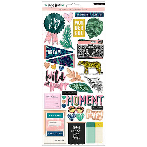 Crate Paper - Wild Heart Collection - Cardstock Stickers with Holographic Foil Accents