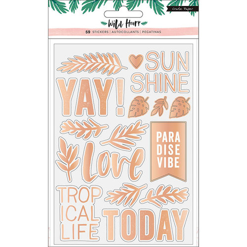 Crate Paper - Wild Heart Collection - Clear Stickers with Holographic Foil Accents