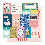Crate Paper - Willow Lane Collection - 12 x 12 Double Sided Paper - Daydream