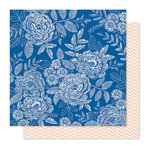 Crate Paper - Willow Lane Collection - 12 x 12 Double Sided Paper - Sweet Rose