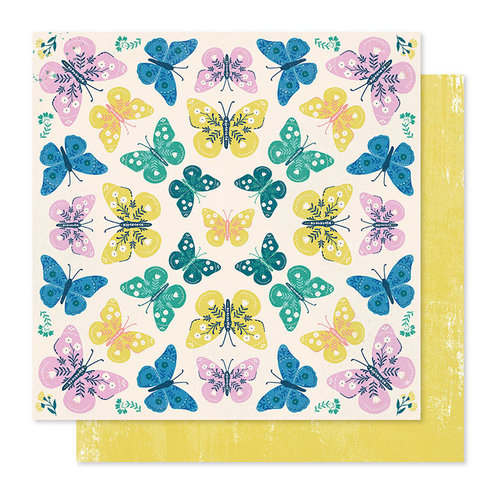 Crate Paper - Willow Lane Collection - 12 x 12 Double Sided Paper - Flutter