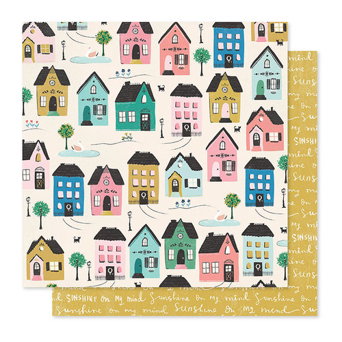 Crate Paper - Willow Lane Collection - 12 x 12 Double Sided Paper - Cottage
