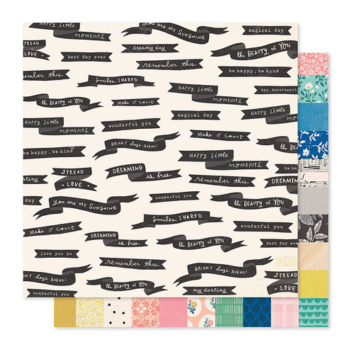 Crate Paper - Willow Lane Collection - 12 x 12 Double Sided Paper - Spread Love