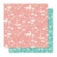 Crate Paper - Willow Lane Collection - 12 x 12 Double Sided Paper - Meadow