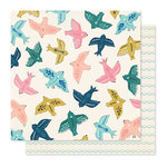 Crate Paper - Willow Lane Collection - 12 x 12 Double Sided Paper - Sparrow