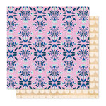 Crate Paper - Willow Lane Collection - 12 x 12 Double Sided Paper - Flowerpatch