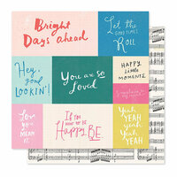 Crate Paper - Willow Lane Collection - 12 x 12 Double Sided Paper - Melody