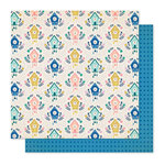 Crate Paper - Willow Lane Collection - 12 x 12 Double Sided Paper - Happy Times