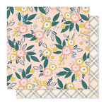 Crate Paper - Willow Lane Collection - 12 x 12 Double Sided Paper - Blossom