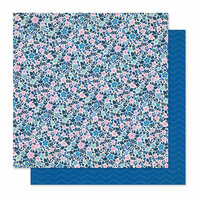 Crate Paper - Willow Lane Collection - 12 x 12 Double Sided Paper - Periwinkle