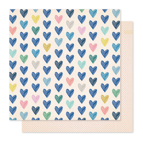 Crate Paper - Willow Lane Collection - 12 x 12 Double Sided Paper - Kind Heart