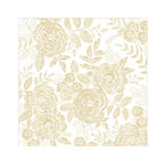 Crate Paper - Willow Lane Collection - 12 x 12 Vellum Paper with Foil Accents - Golden