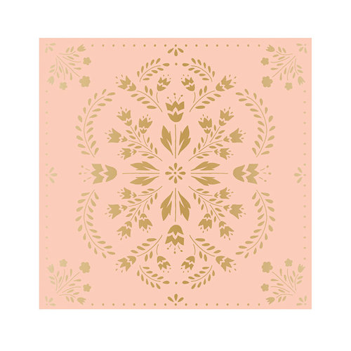 Crate Paper - Willow Lane Collection - 12 x 12 Paper with Foil Accents - Delicate