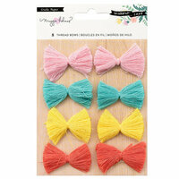 Crate Paper - Willow Lane Collection - Adhesive Thread Bows