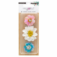 Crate Paper - Willow Lane Collection - Sequin Flowers