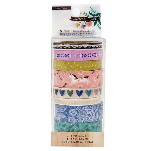 Crate Paper - Willow Lane Collection - Washi Tape Set with Foil Accents
