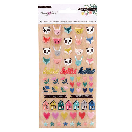 Crate Paper - Willow Lane Collection - Puffy Stickers