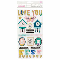 Crate Paper - Willow Lane Collection - Thickers - Foam and Cardstock - Glitter - Wonderful