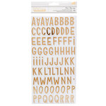 Crate Paper - Willow Lane Collection - Thickers - Chipboard - Foil - Alphabet - Picnic