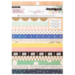 Crate Paper - Willow Lane Collection - 6 x 8 Paper Pad with Foil Accents - Basic