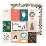Crate Paper - Merry Days Collection - Christmas - 12 x 12 Double Sided Paper - Sleigh Ride